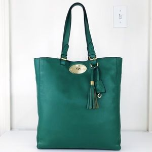 Mulberry Emerald Leather Tote Shoulder Bag
